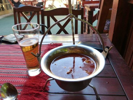 Haller Camping : Nice bowl of Goulash soup in the restaurant