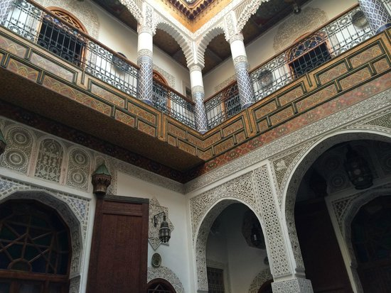 Riad Sara: Center courtyard looking towards the second floor
