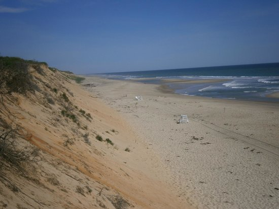 Nauset Light Beach: Looking north from the platform at the top of the stairs