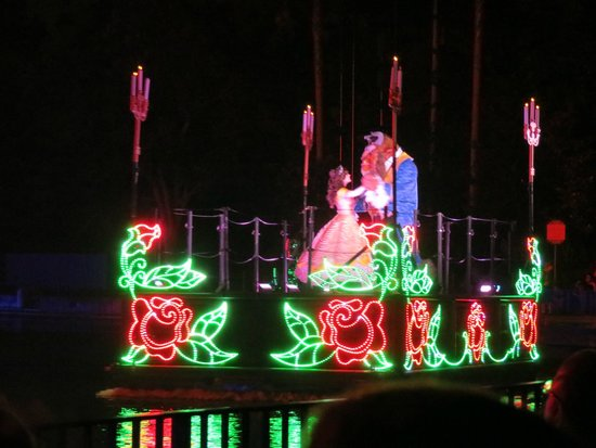 Fantasmic!: One of the floats sailing past.