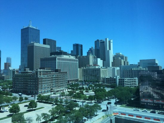 Omni Dallas Hotel : View of the Dallas Skyline from My Room