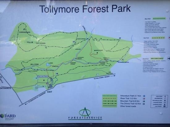 Tollymore Forest Park: hiking routes