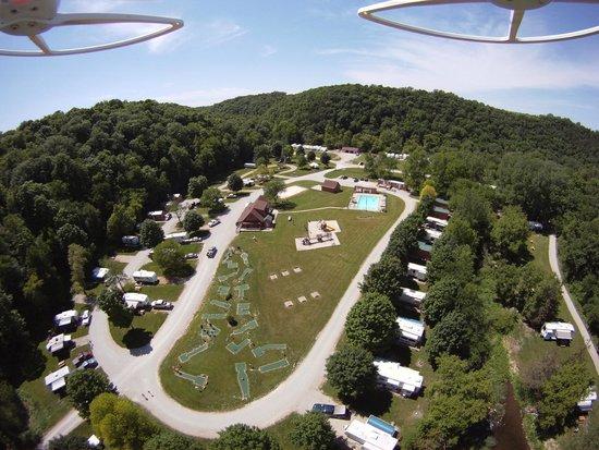 Hidden Bluffs Resort: Bird's Eye View!