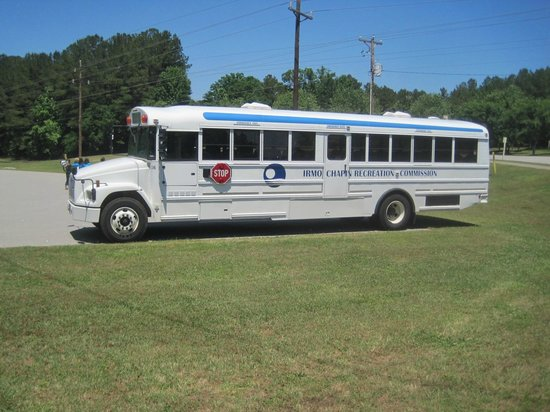 Irmo Chapin Recreation Commission bus, Saluda Shoals Park, 2014