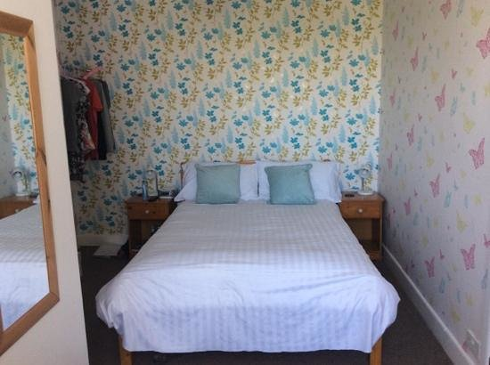 Highfields at Crantock: one of the bedrooms