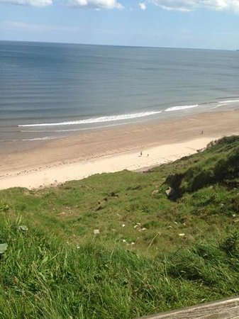 Primrose Valley Holiday Park - Haven: Our first glance of the beach at Primrose Valley