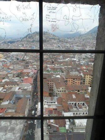 Quito Old Town: View from above.