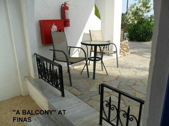 Finas Hotel Apartments: balcony