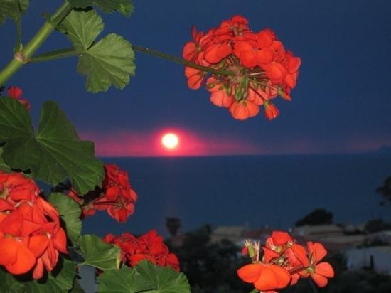 Stevens on the Hill: sunset from restuarant