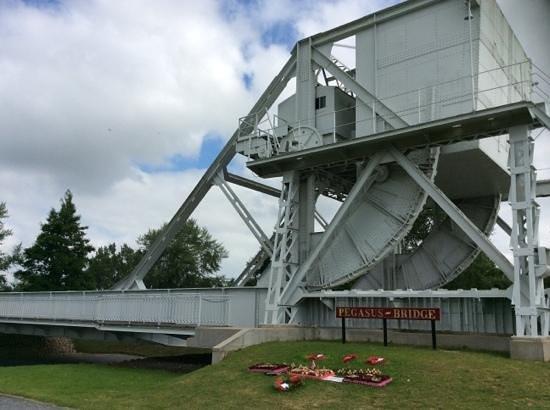 Pegasus Bridge: The original bridge in the museum.