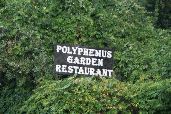 Polyphemus Restaurant: Polyphemus Garten Hinweis