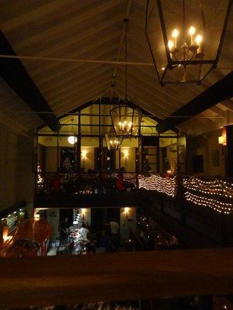 Kome: Vista do 2o andar do restaurante