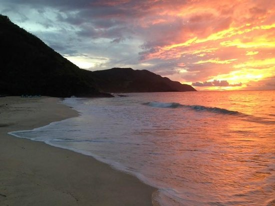Renaissance St. Croix Carambola Beach Resort & Spa: Could you ask for a more beautiful sunset?