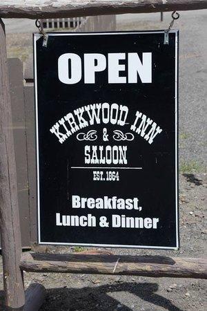 Kirkwood Inn & Saloon: Inn sign