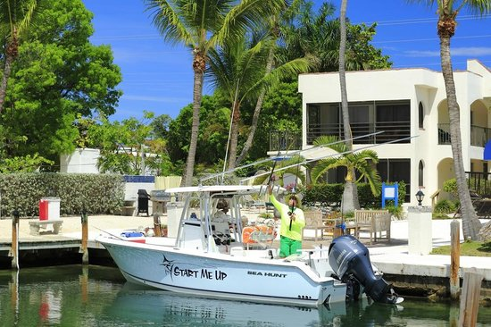 Lookout Lodge Resort: The marina was the first Green Certified marina in the keys. Room for maybe four under 30' boats