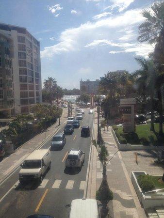 The Condado Plaza Hilton: view from glass memorial tunnel walk over