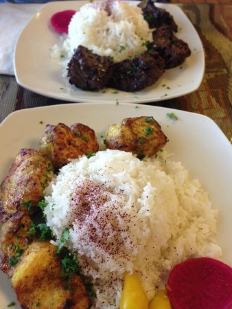 Lusy's : Chicken & shish Kabob
