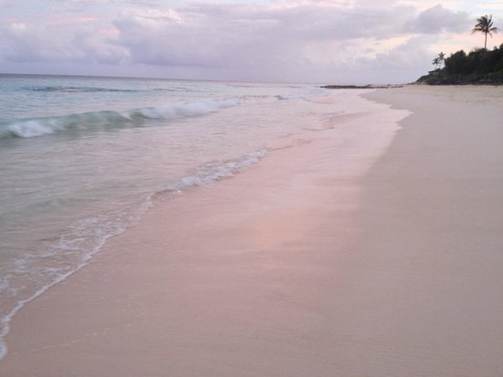 Grape Bay Cottages: Beautiful, soft pink sand