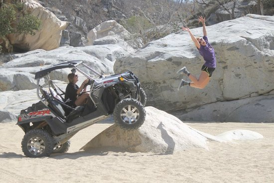 Cactus ATV Tours : At one of the rest point the photographer staged some photos for the teenagers