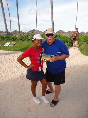 Secrets Royal Beach Punta Cana: Dad & Cinthia!