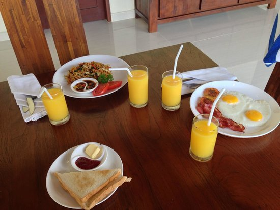 Villa Santun: Breakfast delivered to your room