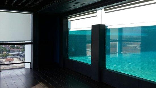 C'haya Hotel: Swimming pool view from the bar next door