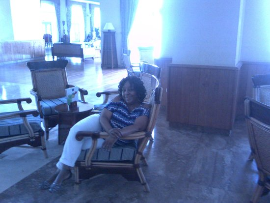 Iberostar Rose Hall Beach Hotel: me in the lobby