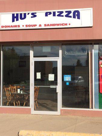Hu's Pizza & Donairs: Front Entrance