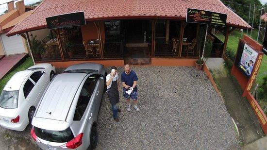 Restaurante Cafe Mediterraneo: Closeup of restaurant from quadcopter