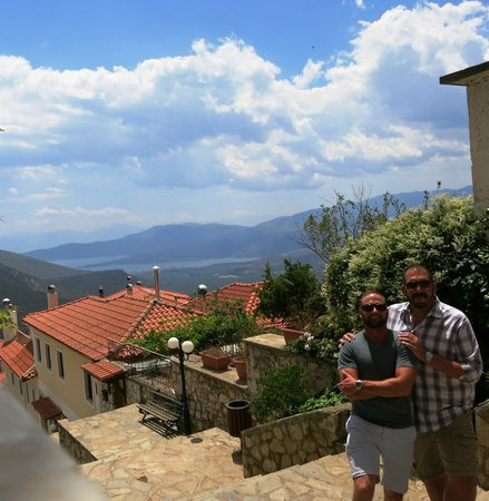 Private Greece Tours : View from outside restaurant in Delphi