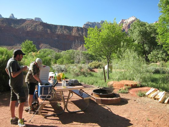 Watchman Campground: Group F (Walk To) Site