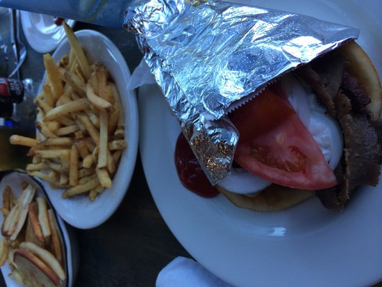 Gyro picture of mykonos authentic greek cuisine for Authentic greek cuisine