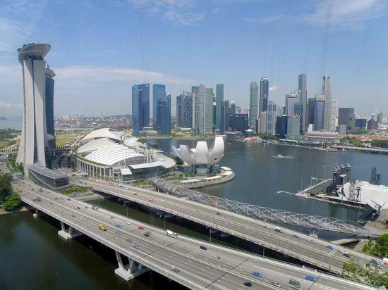 Oasia Hotel Novena, Singapore by Far East Hospitality: View  from Singapore Flyer
