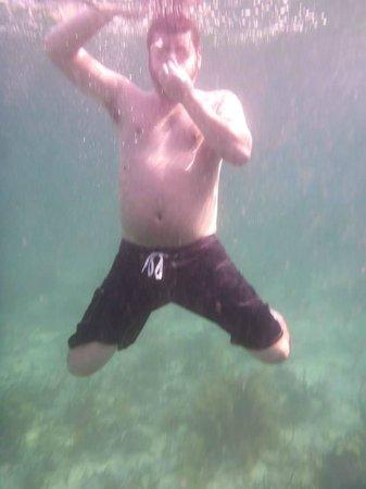 Starfleet Scuba : diving in from the boat
