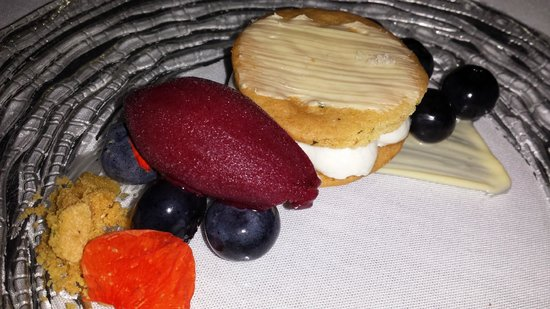 Bacchanalia: Goat Cheesecake, Blueberry Sorbet