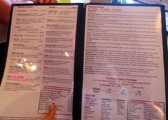 Gypsy Joynt: Huge menu
