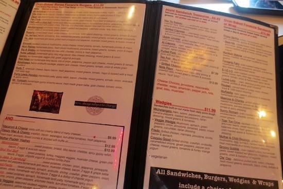 Gypsy Joynt: More of a huge menu