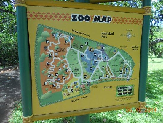 Zoo map Picture of Honolulu Zoo Honolulu TripAdvisor