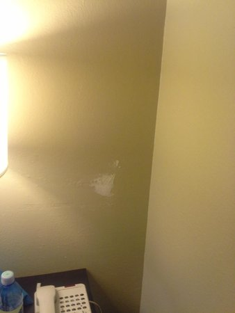 Quality Inn & Suites Escondido: Another beautiful patch job in the bedroom