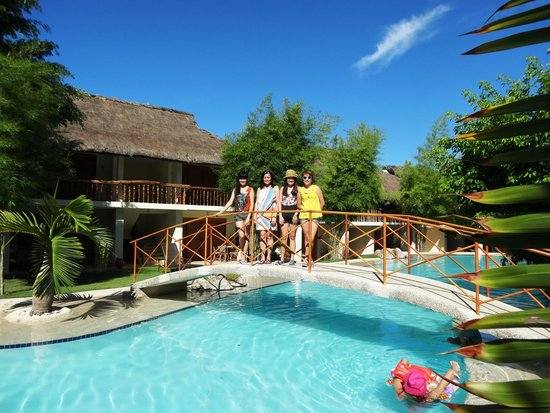 The swimming pool during early morning picture of bluewater maribago beach resort lapu lapu for Cheap hotels in cebu city with swimming pool