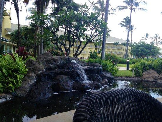 Kauai Beach Villas : View from restaurant at the Kauai Beach Resort restaurant next door