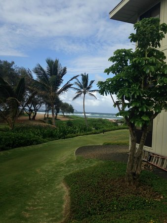 Kauai Beach Villas: Views  from standing outside our unit