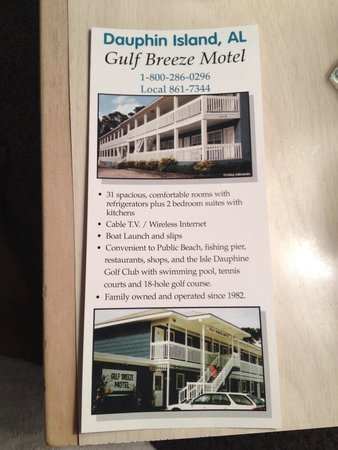 Gulf Breeze Motel : Hotel's flyer