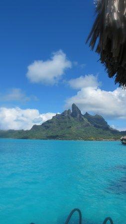 The St. Regis Bora Bora Resort: View from patio