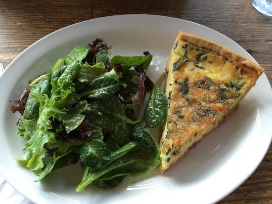 The Bread Peddler: quiche of the day with a salad