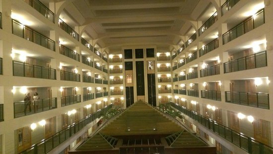 Doubletree Suites by Hilton Hotel & Conference Center Chicago / Downers Grove : Atrium night view
