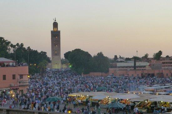 Riad Andalla : Vue de la terrasse du RIAD