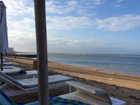 Respati Beach Hotel - Sanur: View from a beach lounger