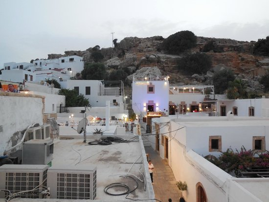 Lindos Restaurant : View from roof tarrace