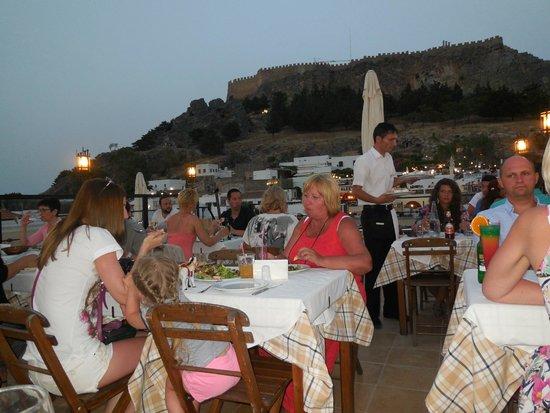 Lindos Restaurant : Roof tarrace